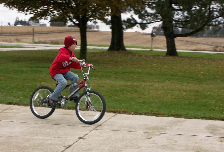 My first experience in riding a bicycle